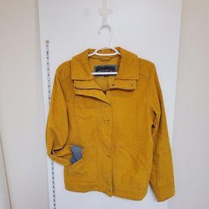Corduroy yellow jacket size medium